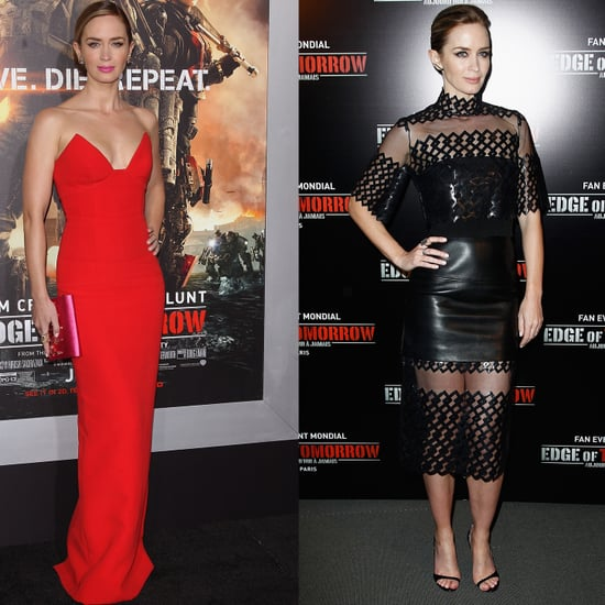 Emily Blunt's Fashion While Promoting Edge of Tomorrow