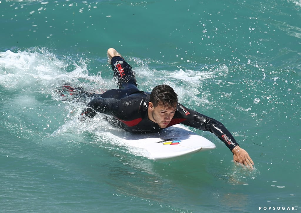 One Direction's Liam and Louis Get In Some Guy Time on the Waves