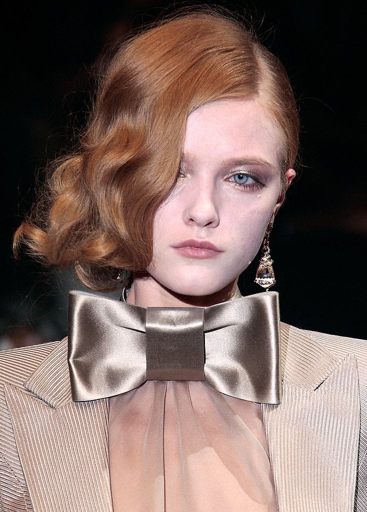 Luxe Hair: The retro wave from Giorgio Armani Haute Couture was just the tip of the iceberg when it came to one-sided styles.