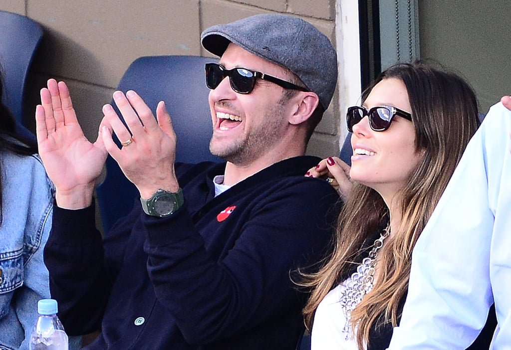 On Sept. 9, Justin Timberlake took some time off from the stage to watch the final match of the US Open with his wife, Jessica Biel, cheering from the couple's box seats.