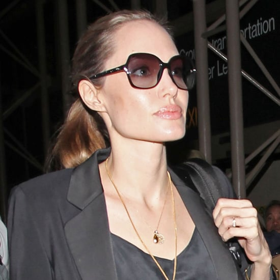 Angelina Jolie Wearing a New Ring (Photos)