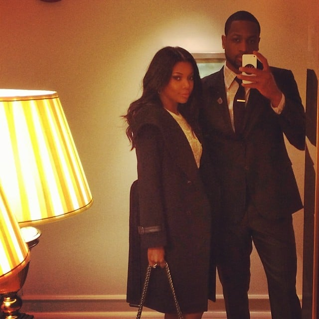 Dwyane Wade and Gabrielle Union snapped a selfie before heading to the White House. Source: Instagram user dwyanewade