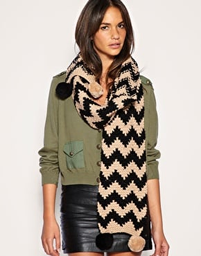 French Connection Vogue Knitted Scarf  ($86)