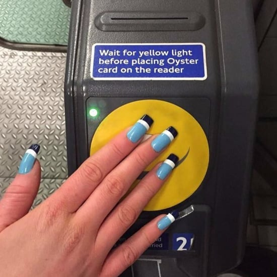 Oyster Card Acrylic Nails