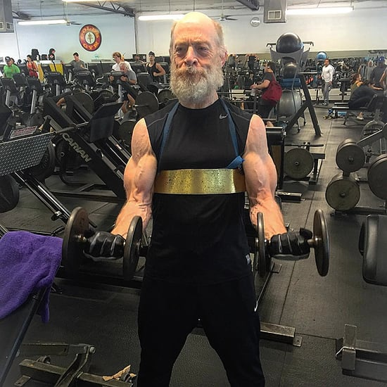 Warning! These Pictures of J.K. Simmons Flexing His Muscles at the Gym Might Give You Whiplash