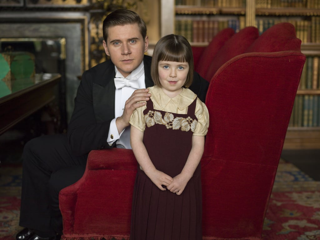 And Sybbie Branson (Fifi Hart) is now a little lady alongside her dad, Tom (Allen Leech).