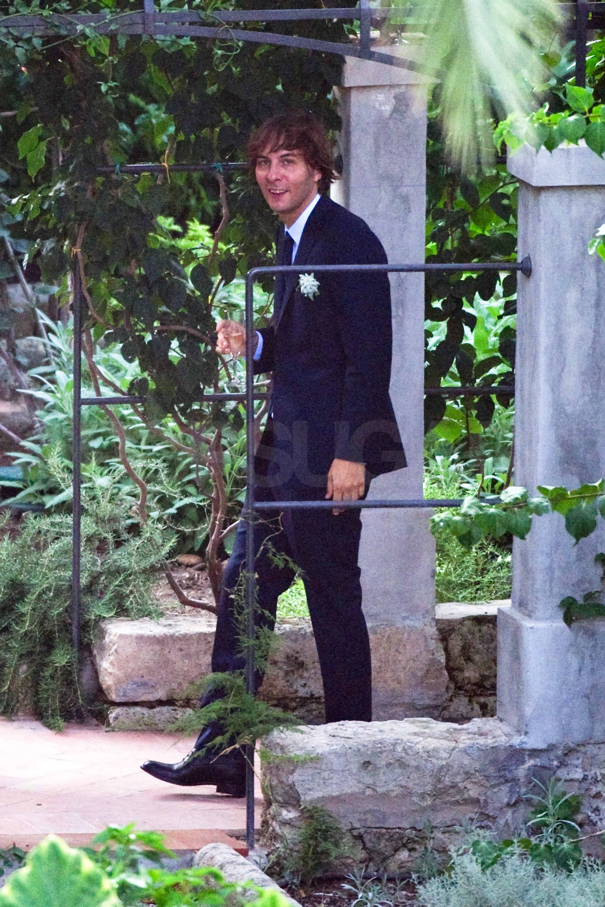Thomas Mars wore a dark suit to the ceremony.