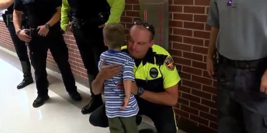 Compassionate Officers Send Fallen Cop's Kids Off To First Day Of School
