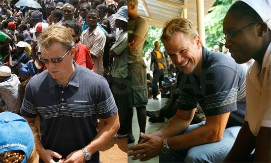 Matt Damon in South Africa