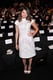 Fruitvale Station actress Melonie Diaz wore all white for the J.Mendel show on Wednesday.