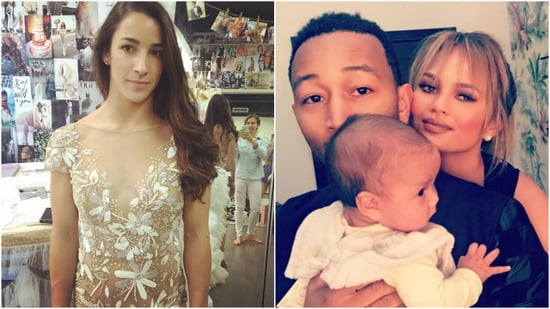 Aly Raisman Hangs Out With Chrissy Teigen, John Legend, and Baby Luna Before the VMAs -- See the Sweet Pics!