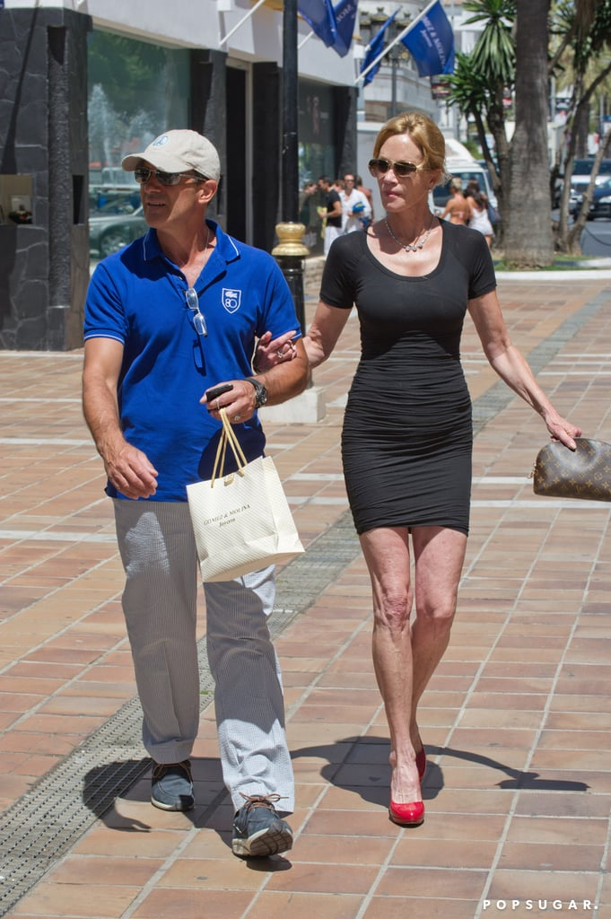 Antonio Banderas and Melanie Griffith went shopping together in Marbella in August.