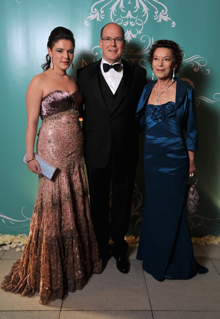 Prince Albert posed with guests at the Nights in Monaco Gala Fundraiser.