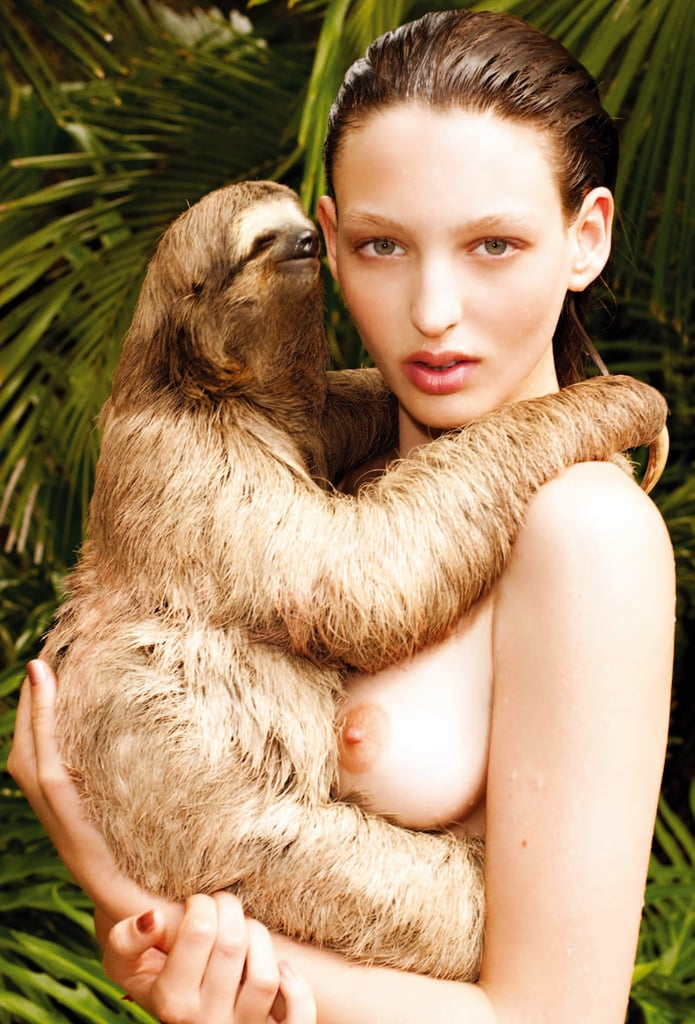 Georgina Stojiljkovic Carrying a Sloth