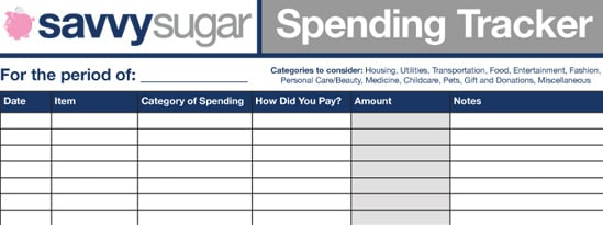 Get Your Budget on Track With the Savvy Spending Tracker!