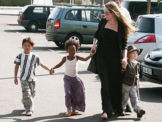Lil Links: Angelina Looks Ready For a Game of Red Rover
