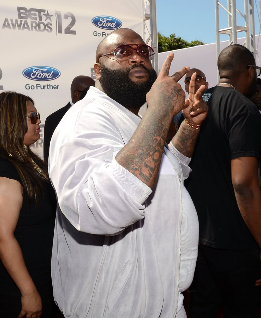 Rick Ross stepped out at the BET Awards in LA.