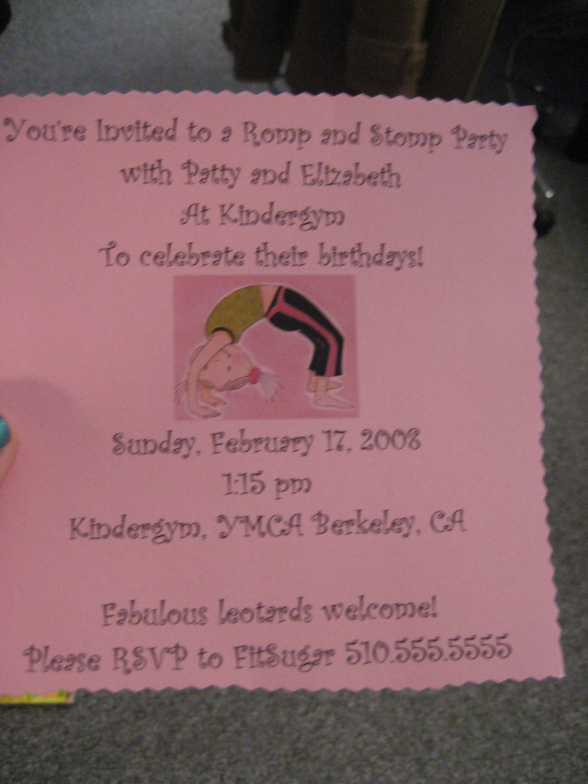 Come Party With Me: Little Girl's Birthday — Invite