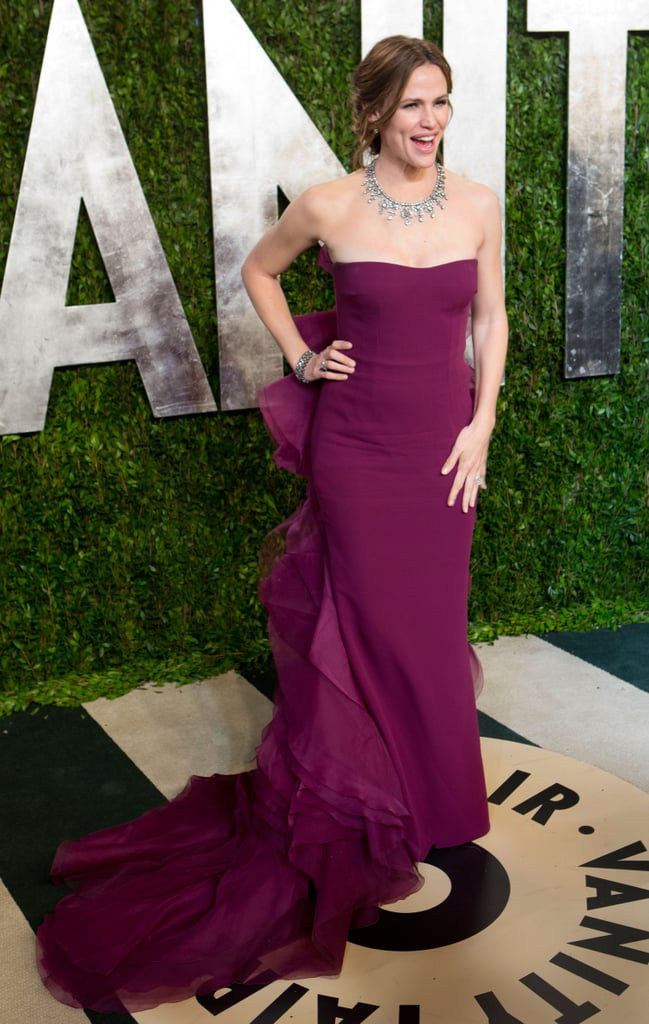 Jennifer Garner arrived at the Vanity Fair Oscar party.