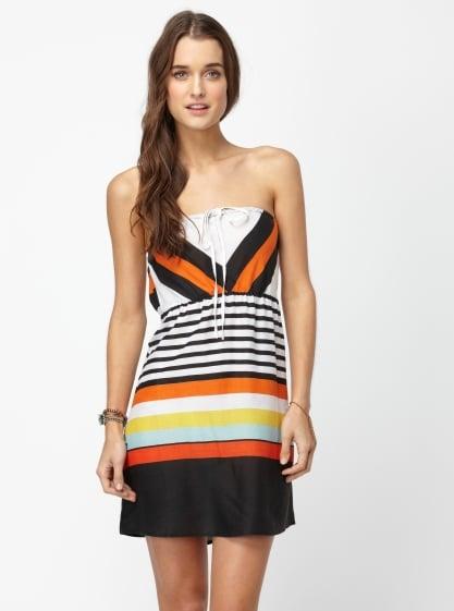 This burst of brights feels effortlessly fun.  Roxy Sky Sail Dress ($45)