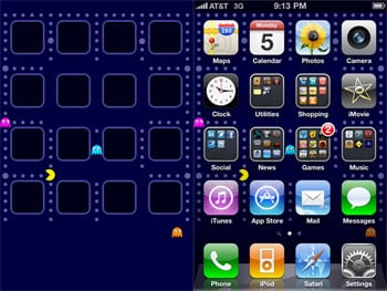 Pac-Man iPhone Wallpaper 2010-07-06 01:47:25