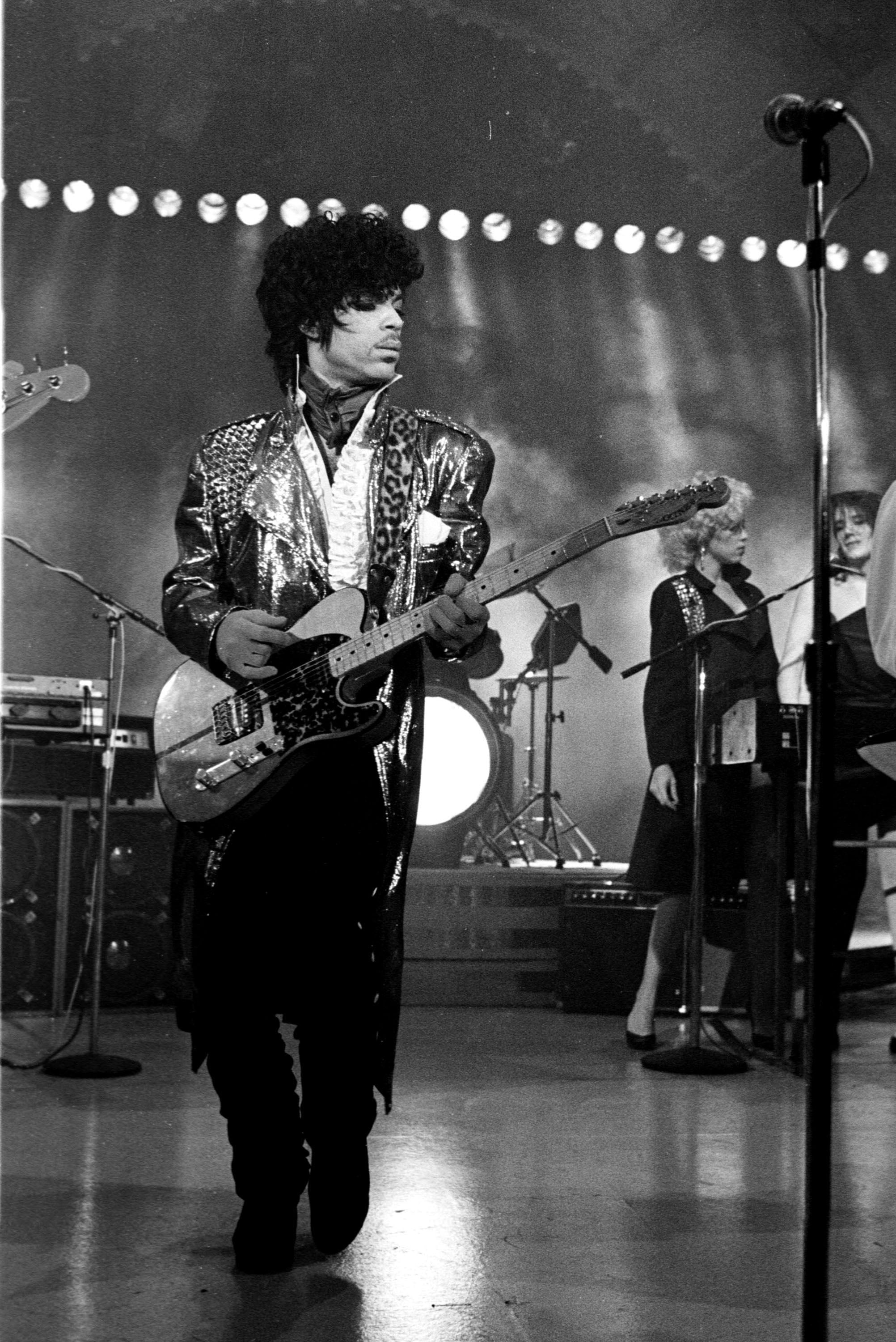 Prince performed in 1983.