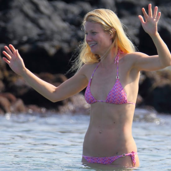Gwyneth Paltrow in a Bikini and Chris Martin at the Beach