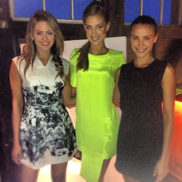 Model mates Jesinta Campbell, Laura Dundovic and Rachel Finch smiled for the camera. Source: Instagram user jesinta_campbell