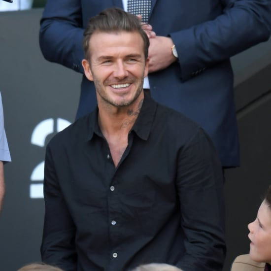 David Beckham With Sons at Wimbledon 2016