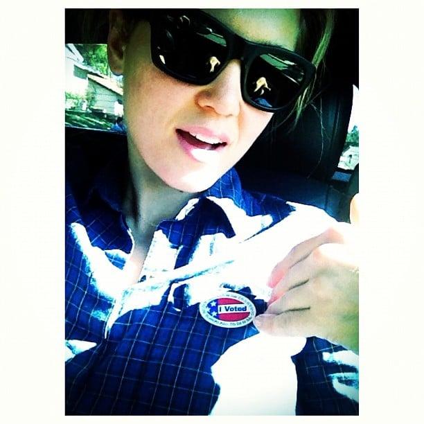 Parenthood's Erika Christensen shared a snap after she went to the polls.  Source: Instagram user erikachristensen