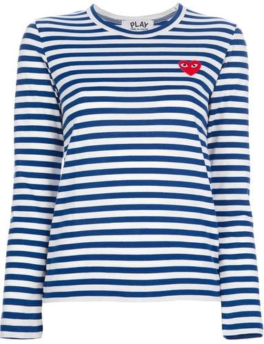 Comme Des Garçons Play long sleeve striped t-shirt