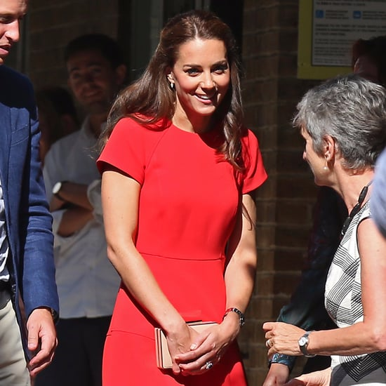 Kate Middleton Wearing a Red LK Bennett Dress August 2016