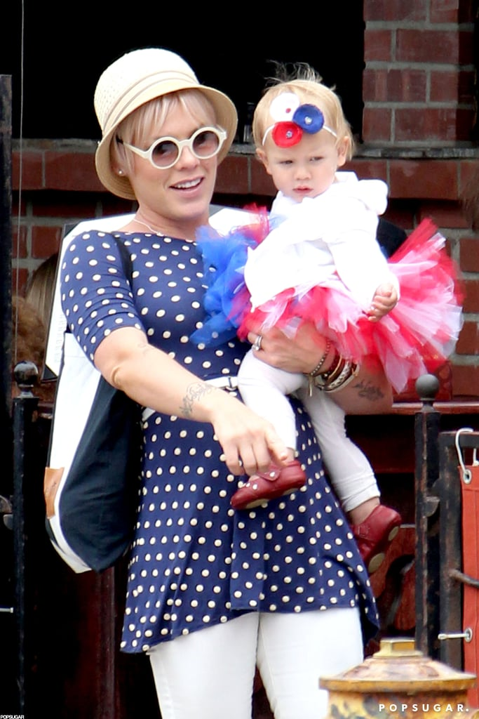 Pink and her daughter, Willow Hart, were dressed for the holiday in LA.