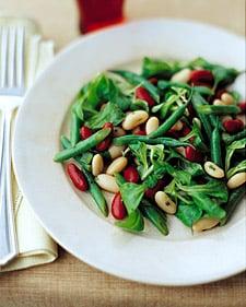 Three-Bean Salad with Honey-Mustard Vinaigrette
