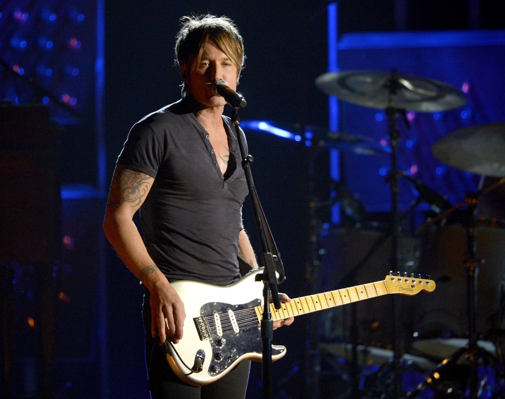 Keith Urban performed at the Grammys.