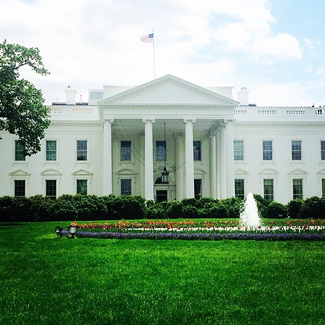 The White House was looking beautiful ahead of the big weekend.