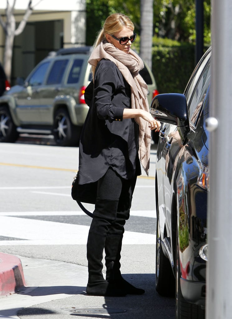Charlize Theron got lunch in LA.