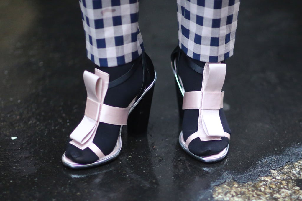 You can totally wear your sweet sandals this time of year. Just add socks.  Source: Tim Regas