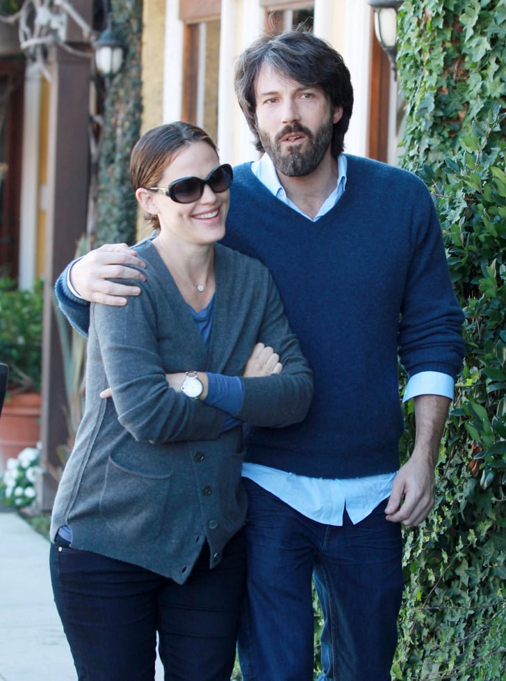 Jennifer Garner and Ben Affleck at lunch in LA.