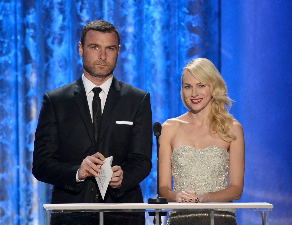 Liev Schreiber and Naomi Watts presented together at the SAG Awards.