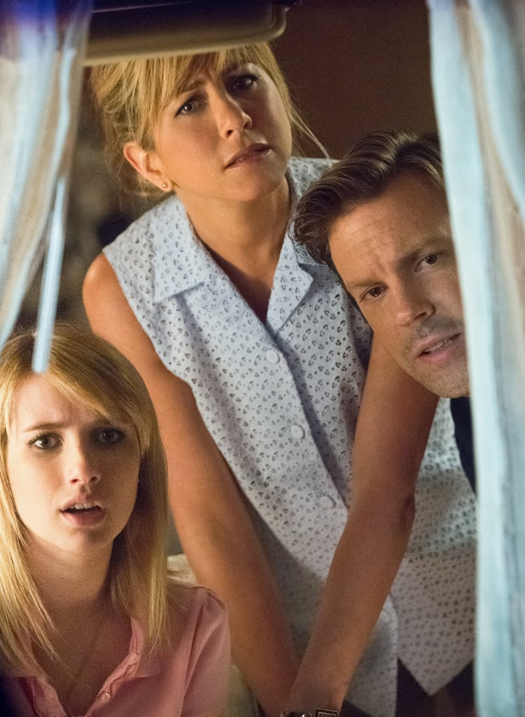 We're the Millers  Who's starring: Jennifer Aniston, Jason Sudeikis, and Emma Roberts Why we're interested: Playing a stripper who agrees to pose as the wife of her drug-dealing neighbor (Sudeikis), Aniston brings a sassy sense of humor to this comedy. When it opens: Aug. 7 Watch the trailer for We're the Millers.
