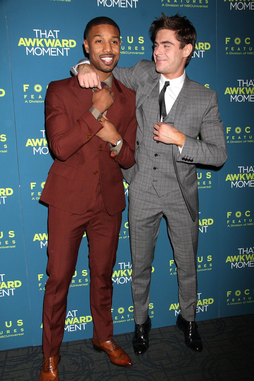Michael and Zac joked around.