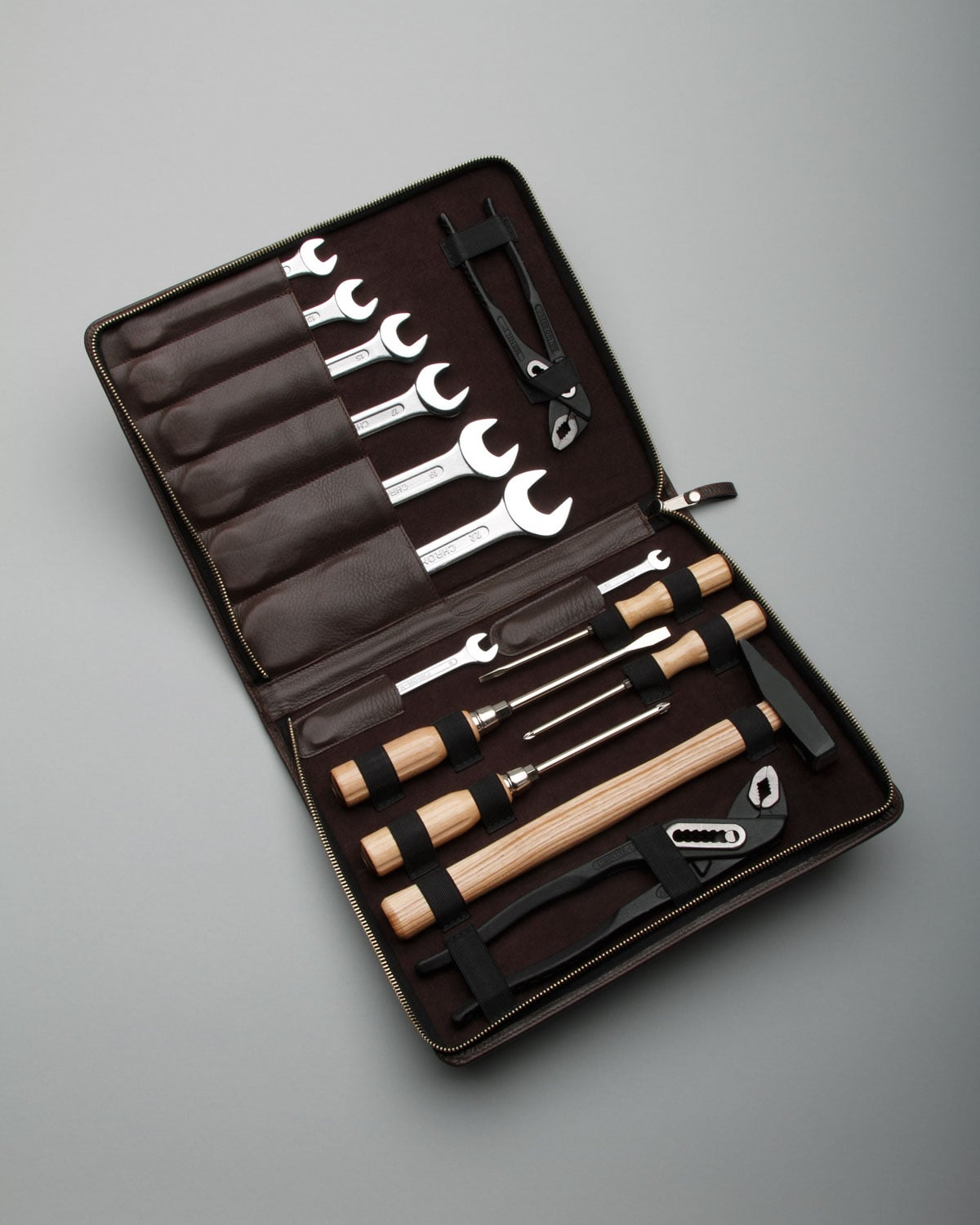 For the metro man in your life, this Lux Tool Kit ($500) is sure to appeal to his manly and uptown taste all at the same time. Who'd have thought tools could look so handsome?