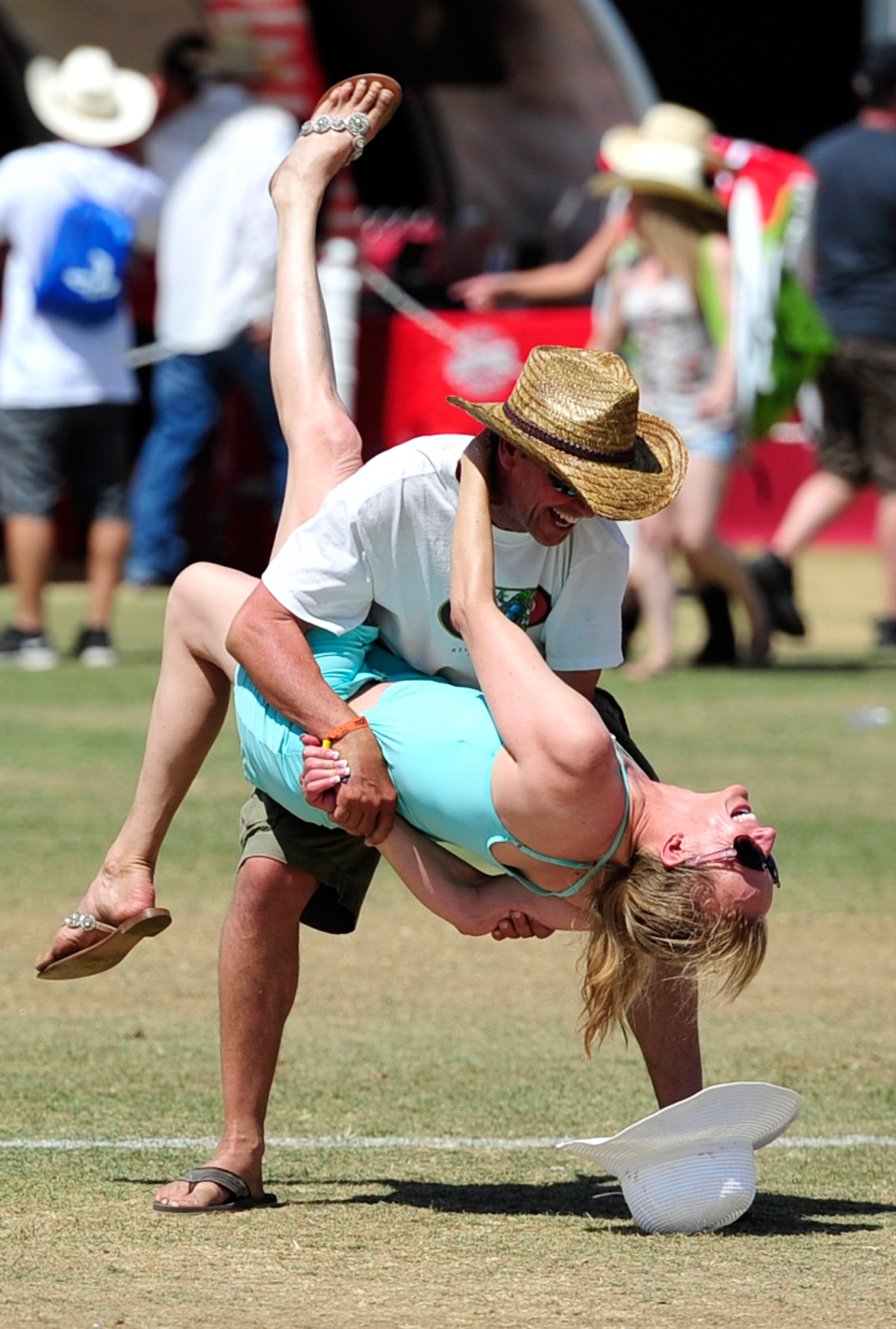 A twosome danced at Stagecoach.