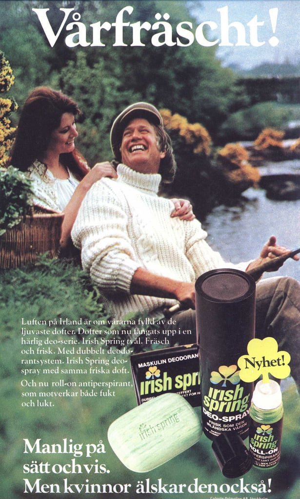 Get clean the Irish way with Irish Spring soap.