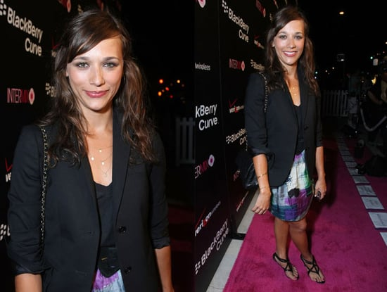 Actress Rashida Jones Attends the Launch Party For the New Pink BlackBerry Curve From Verizon Wireless at Intermix