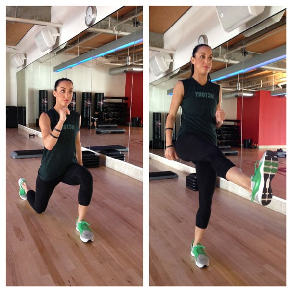 3. Switch Lunge with Kick