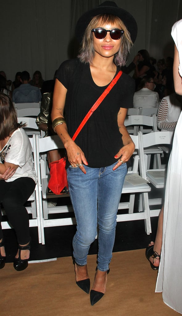 Zoë Kravitz looked hipster-chic at the Sass & Bide runway show on Wednesday.