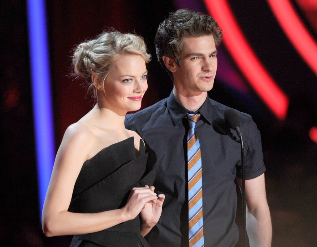 Emma Stone took the stage with her Amazing Spider-Man co-star Andrew Garfield.