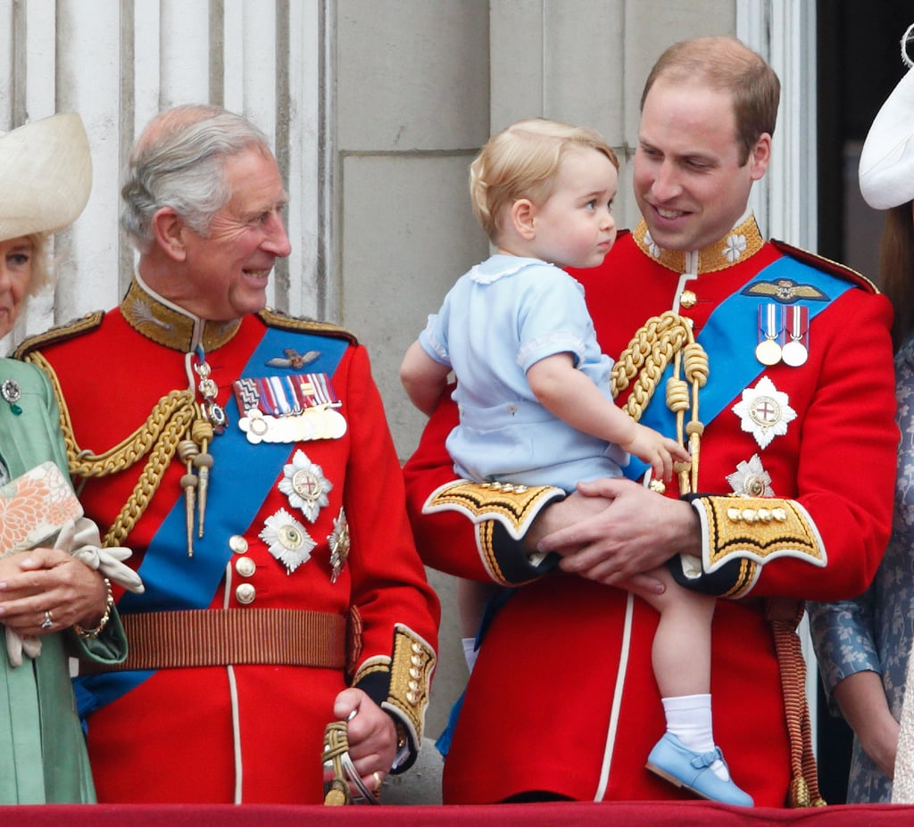 When He Held Onto George on the Balcony of Buckingham Palace
